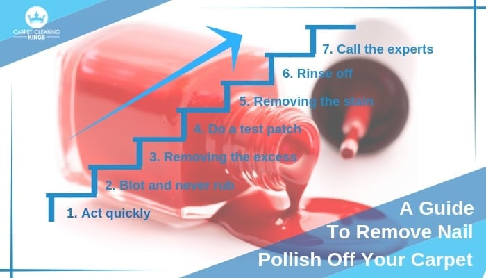 tips on removing nail polish from your carpet. Black Bedroom Furniture Sets. Home Design Ideas