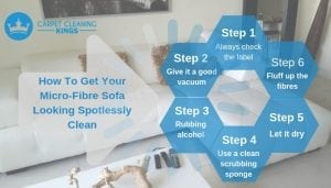How To Get Your Micro-Fibre Sofa Looking Spotlessly Clean