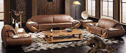 leather lounge sofa ottoman upholstery clean and condition