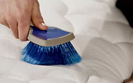 Mattress scrubbing when cleaning